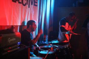 Der Schlagzeuger in Aktion