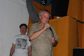 Die Präsentationen Simon Steiner und Norbert Prothmann mit Hut