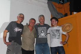 DJ Barney Trouble, Simon Steiner, ScharpinPershing und Norbert Prothmann (v. links)