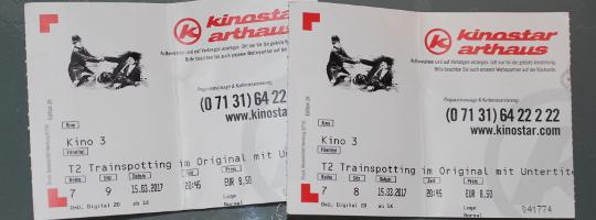 Eintrittskarten für Trainspotting 2