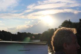 Sonnenuntergang mit dem vermutlich ältesten Gast