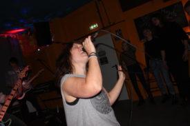 Die Sängerin in Aktion